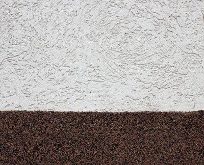 Stuck weiß und braun Wand Hintergrund oder Textur