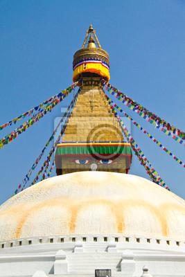 Stupa der swayambhunath Tempel mit blauer Himmel in Kathmandu, Ne