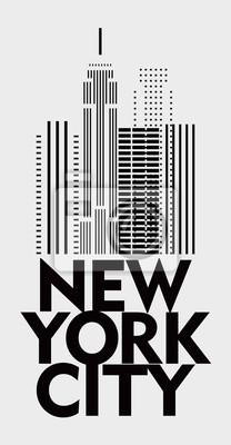Stylish design poster New York. Minimalism. Vector drawing