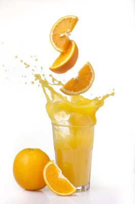 Sticker succo d'arancia splash