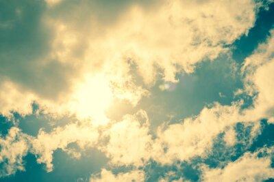Sticker Sun bricht durch die Wolken