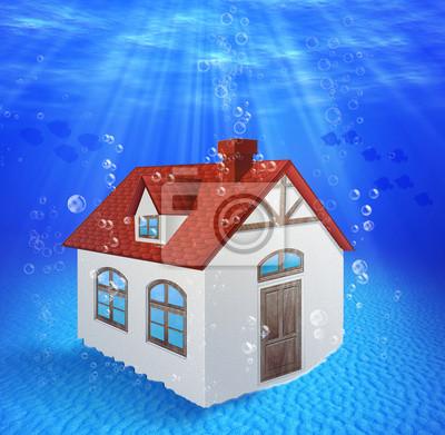 Sunk, Unterwasser-Haus