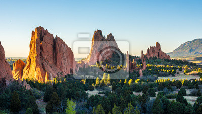 Sticker Sunrise at the Garden of the Gods in Colorado Springs, CO