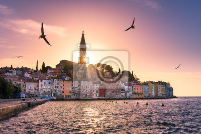 Sunset in Rovinj, Croatia