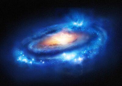 Sticker Super-Enorme Galaxie