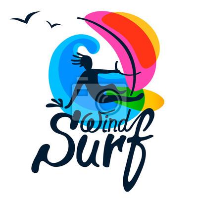 Surfer-Logo-Vorlage.