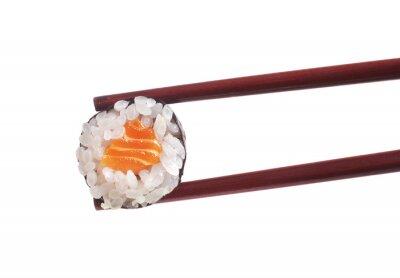 Sticker Sushi auf weißem Hintergrund