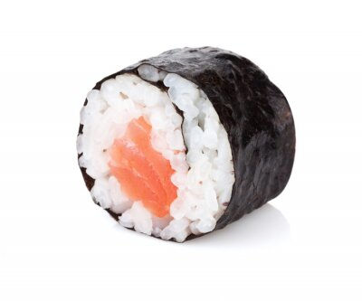 Sticker Sushi Maki mit Lachs