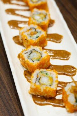 Sticker Sushi Rollen