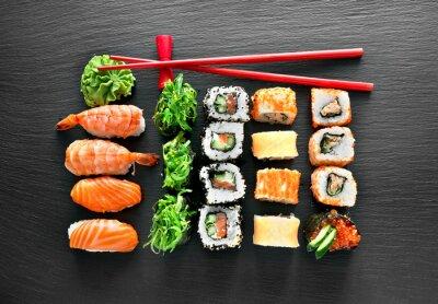 Sticker Sushi-Set und Stäbchen