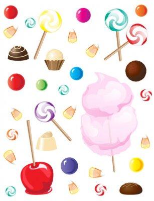 Sticker Süßigkeiten