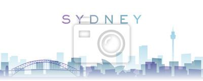 Sydney Transparent Layers Gradient Landmarks Skyline