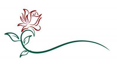 Symbol of a red rose.