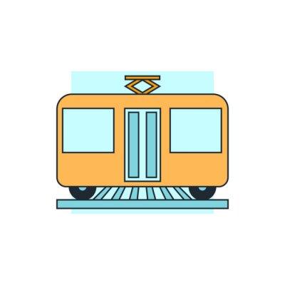 Sticker Symbol Tram Ansicht vorne