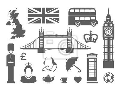 Symbole von England und London