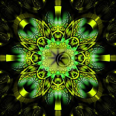 Symmetrische fraktalen Muster mit glänzenden Streifen. Collection - rhi