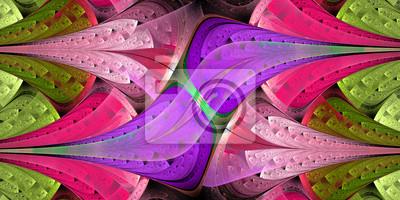 Symmetrische Muster in Glasfenster Stil. Computer-Gen
