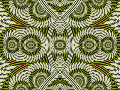 Symmetrische Struktur Hintergrund mit Spiralen. Graue und grüne Kumpel