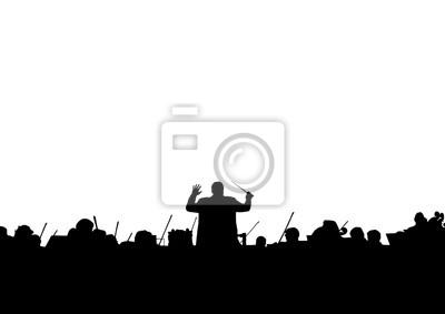 Sticker Symphony Orchestra in der Form einer Silhouette