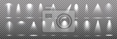 Sticker Szenenbeleuchtung Sammlung, transparente Effekte. Helle Beleuchtung mit Strahlern.