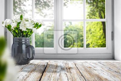 Sticker Tabellenhintergrund und Frühlingszeit