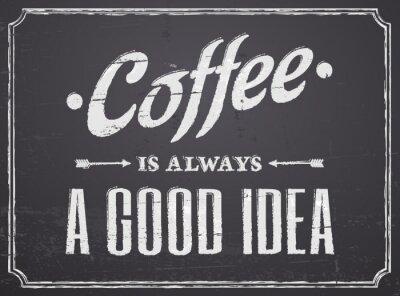 Tafel Kaffee-Entwurf