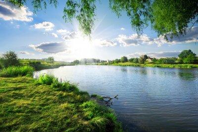 Sticker Tag an einem Fluss