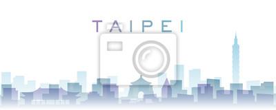 Taipei Transparent Layers Gradient Landmarks Skyline