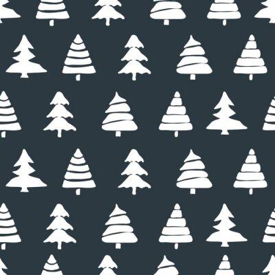Sticker Tannenbaum nahtlose Muster