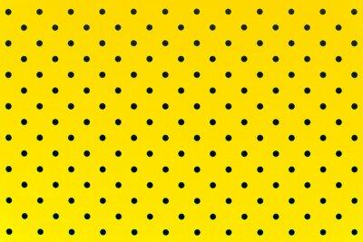 Sticker Tapetenmuster schwarze Punkte in gelben Farbe Hintergrund