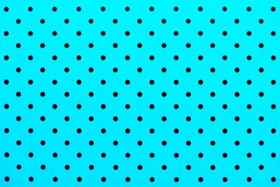 Sticker Tapetenmuster schwarze Punkte in türkisfarbenem Hintergrund