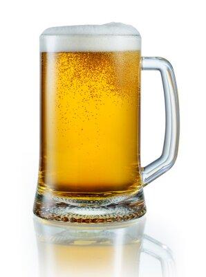 Sticker Tasse helles Bier isoliert auf weißem Hintergrund. Mit Clipping-pa