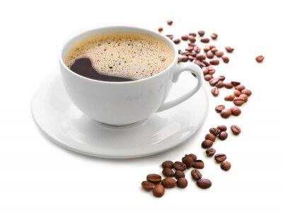 Sticker Tasse Kaffee isoliert auf weißem