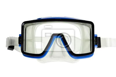 Sticker Taucherbrille auf Weiss