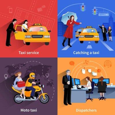 Sticker Taxi Service 2x2 Werbebanner