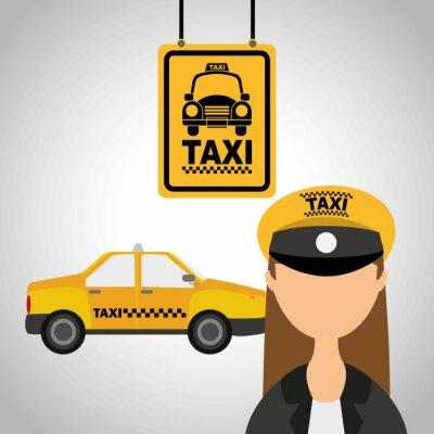 Sticker Taxi-Service