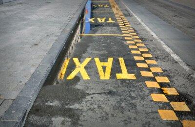 Sticker TAXI - Zeichen auf der Straße