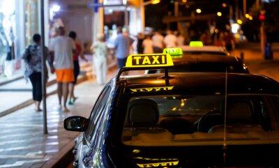 Sticker Taxi-Zeichen in der Nacht