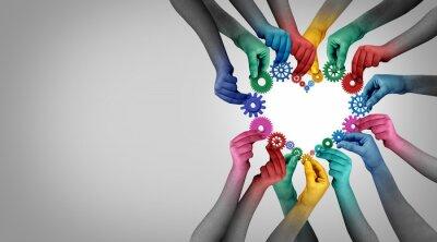 Sticker Team Partnership Unity