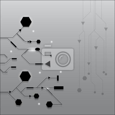 Technologie Hintergrund mit Geometrie Design