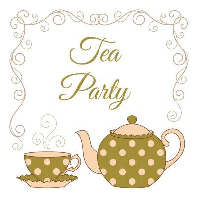Sticker Tee-Party-Karte