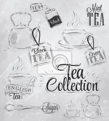 Tee-Sammlung Kohle