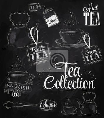 Tee-Sammlung Kreide