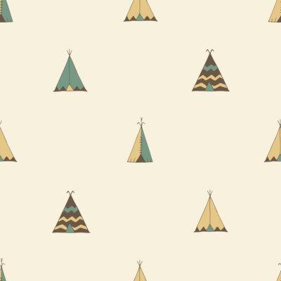 Sticker Teepee Native American Sommer Zelt Abbildung im Vektor.