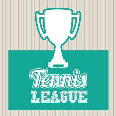 Sticker Tennis-Liga-Design