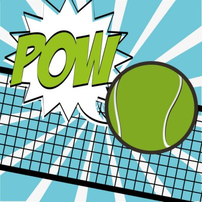 Sticker Tennis-Sportentwurf