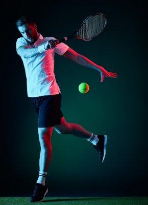 Sticker Tennisspieler Mann isoliert