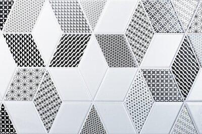 Sticker Textur der klassischen Fliese, abstrakte Muster