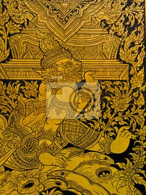 Textur des Fensters in einem Tempel, Thailand