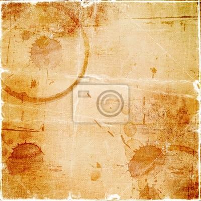 Textur - ein Blatt der alten Papier mit Tropfen Kaffee